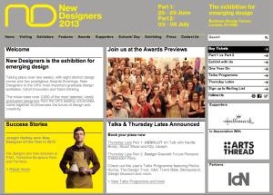 New Designers Homepage